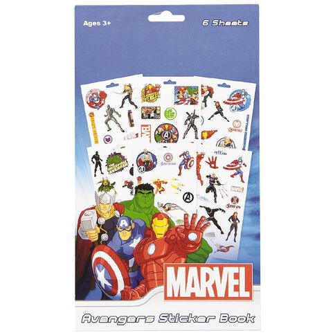 Avengers Avengers Sticker Pad 6 Pages