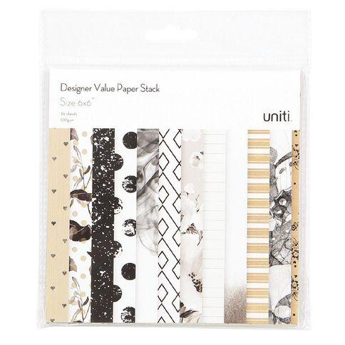 Uniti Value Paper Stack 36 Sheet 6in x 6in