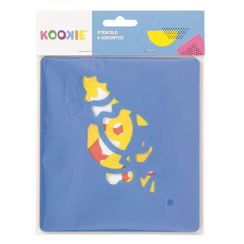 Kookie Stencil Set Assorted 6 Pack