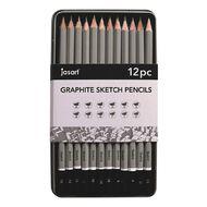 Jasart Sketching Pencils in Tin 12 Pack