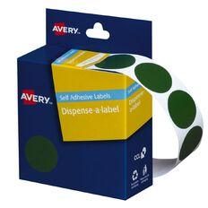 Avery Green Dispenser Dot Stickers 24mm diameter 500 Labels