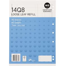 WS Pad Refill 14Q8 Journal Ruled 40 Leaf