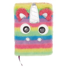 Kookie Fluffy Notebook Rainbow Unicorn A5