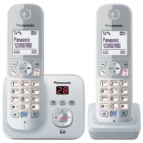 Panasonic Kx-Tg6822Nzs Twin Cordless Phone With Answerphone Silver