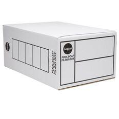 Impact Storage Box Foolscap Double Depth White