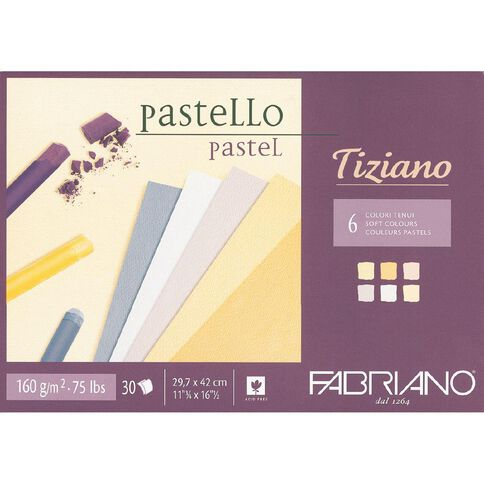 Fabriano Tiziano Pastel Art Pad Soft Colours 160GSM A3