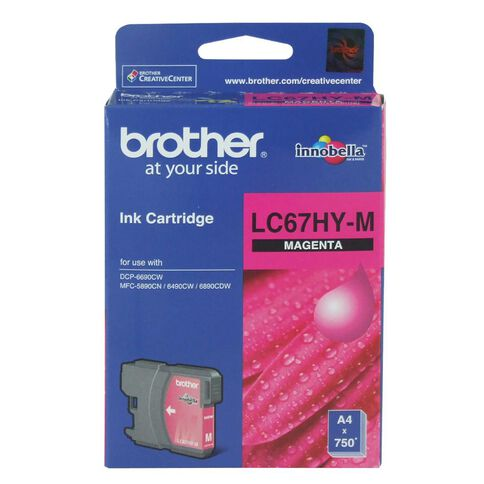 Brother Ink LC67HY Magenta (750 Pages)