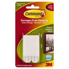 Command Picture Hanging Strips 4 Sets/Pack White Medium