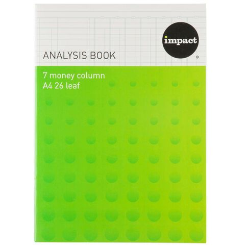 WS Analysis Book Limp 7 Column Blue A4