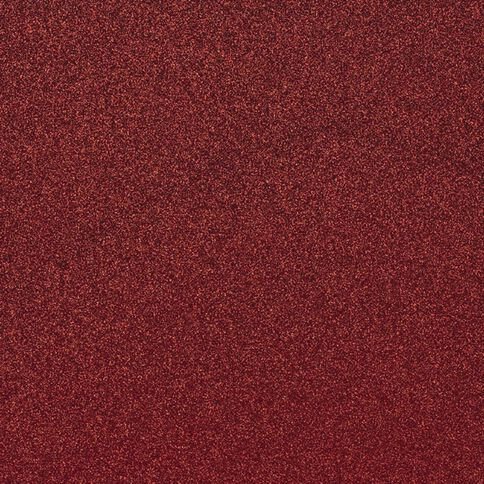 American Crafts Cardstock Glitter Medium 12 x 12 Rouge Red