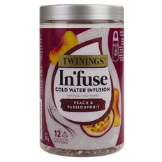 Twinings Infuse Cold Water Infusion Peach & Passionfrt 12 Pack