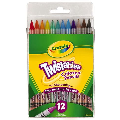 Crayola Twistable Coloured Pencils 12 Pack 12 Pack