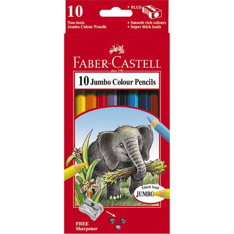 Faber-Castell Colour Pencils Jumbo 10 Pack
