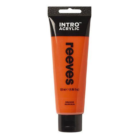 Reeves Intro Acrylic Paint Orange Orange 120ml