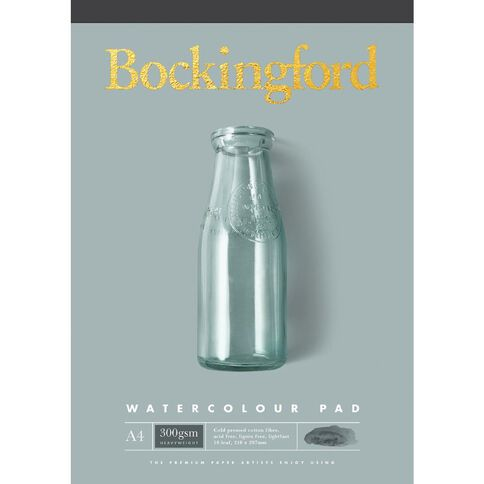 Bockingford Watercolour Pad 300gsm 10 Leaf Yellow A4