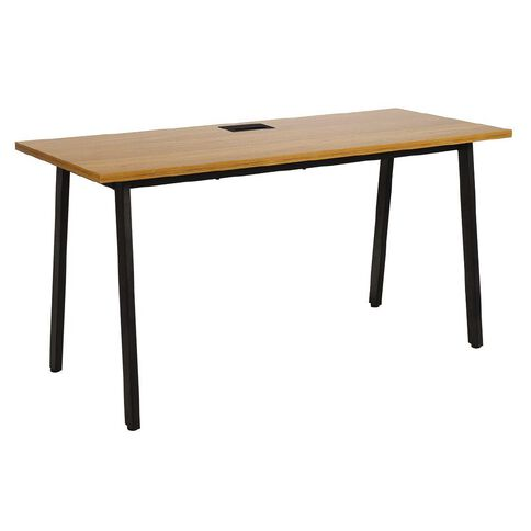 Workspace Studio 1500 Desk Oak/Blk