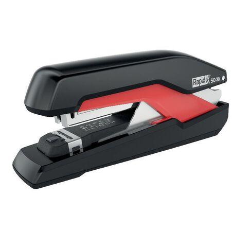Rapid Stapler So30 Omnipress 30 Sheet Fullstrip Black/Red