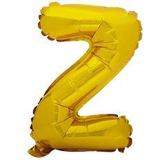 Artwrap Foil Balloon Z Gold 35cm