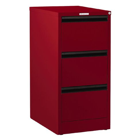 Precision Classic Filing Cabinet 3 Drawer Flame Red