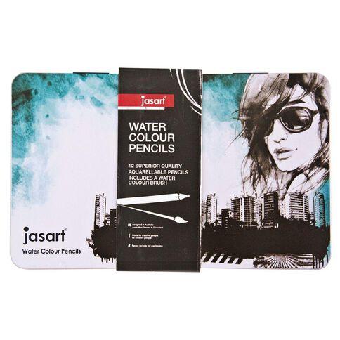 Jasart Watercolour Pencil Tin 12