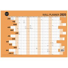 Impact 2020 Wall Planner Laminated 420mm x 600mm A2