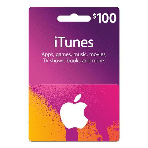 Apple Itunes $100