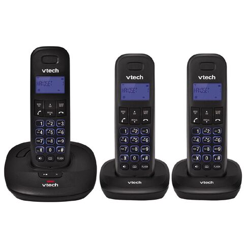 Vtech ES1820-3A Telephone Answer Machine Triple Pack Black