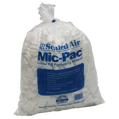 Mic Pac Loosefill Polystyrene Packaging Bag Small White