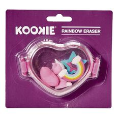 Kookie Novelty-P Eraser Rainbow 4 Pack