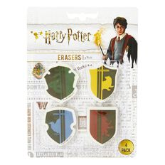 Harry Potter Eraser 4 Pack