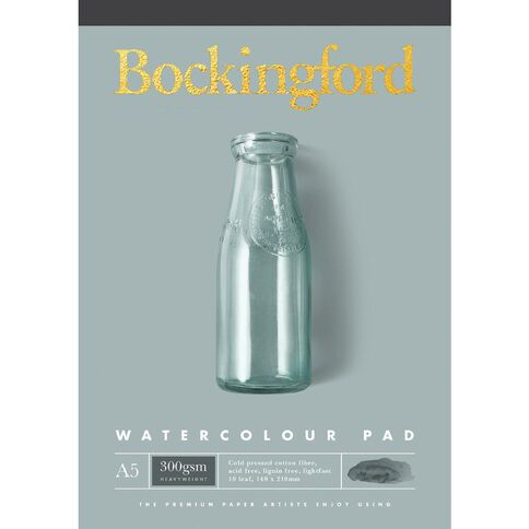 Bockingford Watercolour Pad 300 A5 Yellow A5