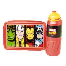 Marvel Lunch Box & Bottle Set