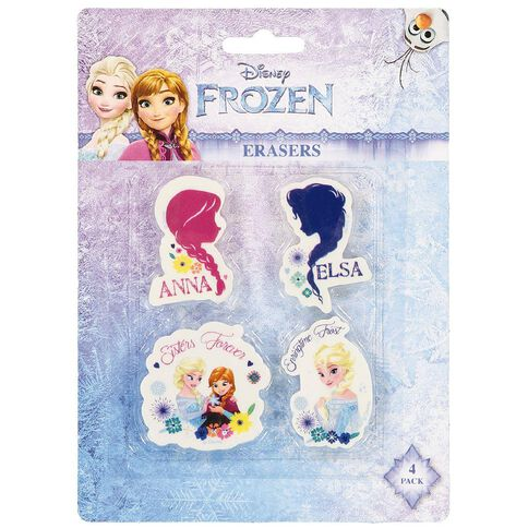 Frozen Erasers 4 Pack