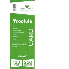 Trophee Card 160gsm 250 Pack Snow White A4