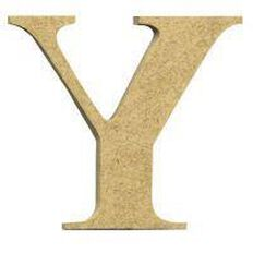 Sullivans Mdf Board Alphabet Letter 6cm Y Brown