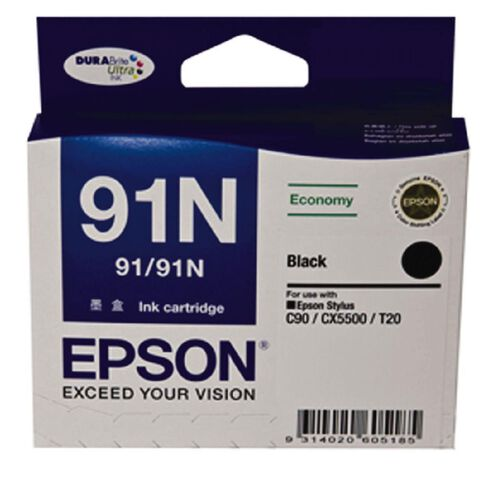 Epson Ink 91N Black (175 Pages)