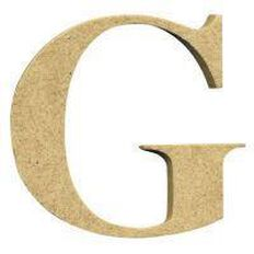 Sullivans Mdf Board Alphabet Letter 6cm G Brown