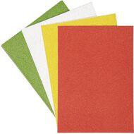 Uniti Christmas Cardstock Glitter A4 12 Sheet