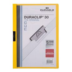 Durable Report Cover 30 Sheet Yellow