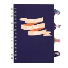Uniti Empowerment Project Notebook Hardcover With Tabs Navy A5