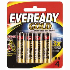 Eveready Gold Batteries  AA 4 Pack