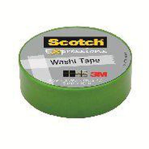 Scotch Washi Craft Tape 15mm x 10m Green