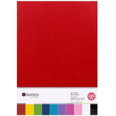 Rosie's Studio Value Cardstock Smooth 220g Brights A4 70 Sheet