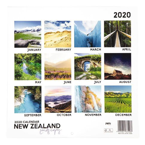 2020 Calendar New Zealand Landscapes 290mm X 290mm