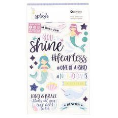 Rosie's Studio Make a Splash Foil Foam Stickers