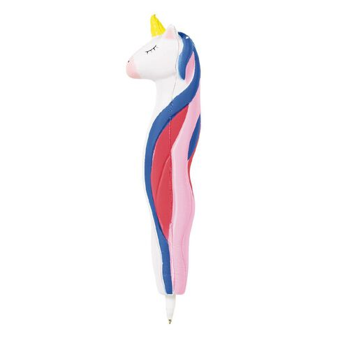 Kookie Novelty20 Squishy Unicorn Pen Pink