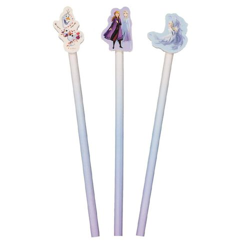 Frozen 2 Pencils with Toppers 3 Pack