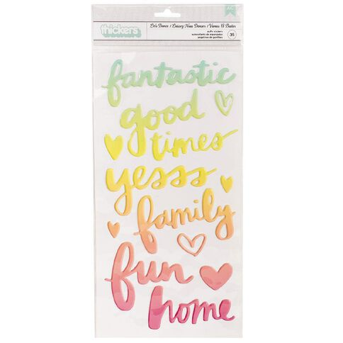 American Crafts Thickers Lets Dance Rainbow Ombre