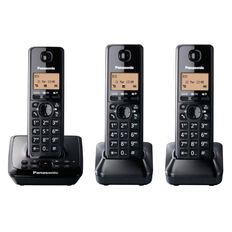 Panasonic Kx-Tg2723Nzb Triple Cordless Phone With Answerphone Black