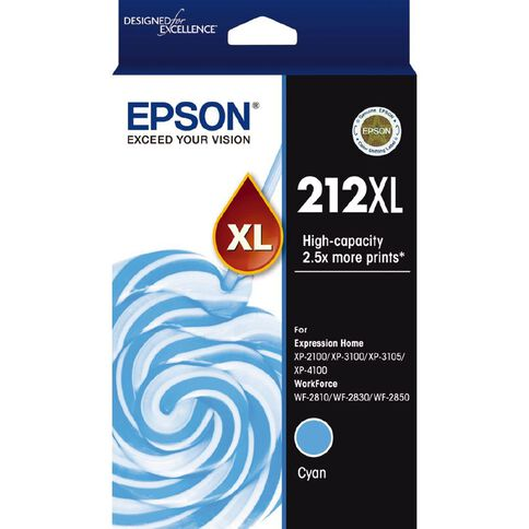 Epson Ink 212XL Cyan (350 Pages)